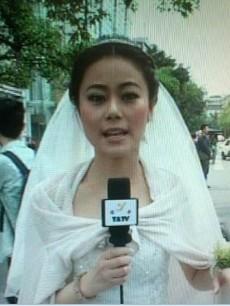 雅安女主播穿婚纱播报_雅安女主播穿婚纱播报震情, 被赞 最美新娘